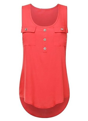 Solid Camisole Neckline Sleeveless Casual T-shirts