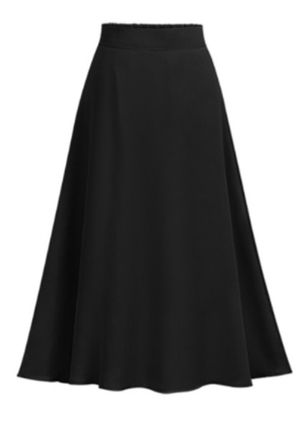 Solid Maxi Casual Skirts (147152048)