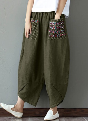 Harem Cotton Pants Pants & Leggings