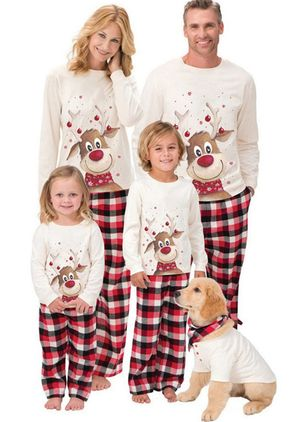 Family Look Animal Christmas Long Sleeve Family Outfits (146681903)
