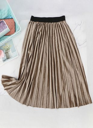 Solid Maxi Casual Skirts (100547300)