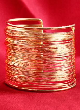 Casual Round No Stone Bangle Bracelets (106821540)