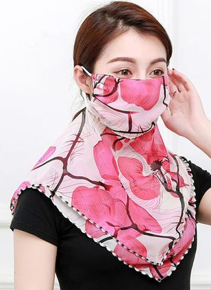 Casual Floral Scarves (1523029)