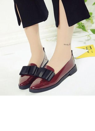 Women's Pumps Pumps Closed Toe Flat Heel Leatherette Shoes