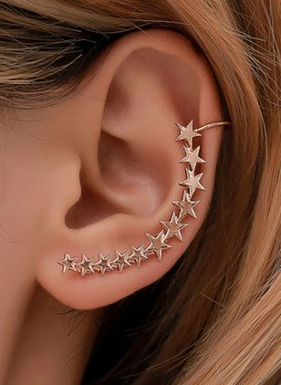Elegant Star No Stone Stud Earrings (146892951)