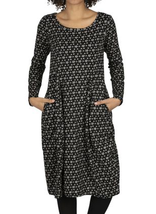 Casual Geometric Tunic Round Neckline A-line Dress (146643120)