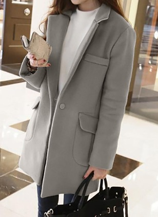 Polyester Long Sleeve Lapel Coats