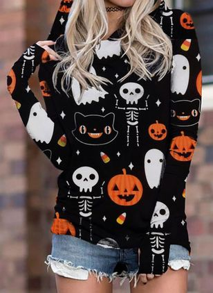 Alphabet Halloween Hooded Sweatshirts (109973541)