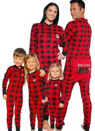 Family Look Plaid Christmas Long Sleeve Family Outfits (131284844)