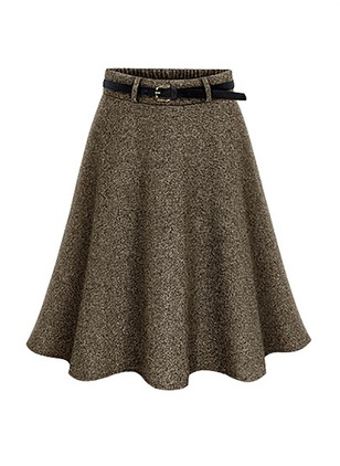 Silk Jute Solid Above Knee Casual Skirts