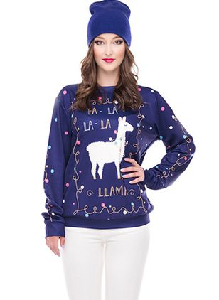 Character Christmas High Neckline Sweatshirts