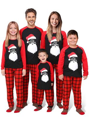 Family Look Alphabet Christmas Long Sleeve Family Outfits (146741948)