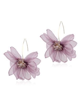 Vintage Floral No Stone Dangle Earrings (147151096)