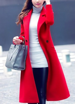Long Sleeve Lapel Coats