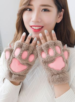 Women's Casual Fabric Gloves & Mittens Windproof Fit Comfort Soft Slim Thick Gloves (146699894)