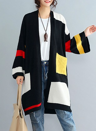 PU Long Sleeve Collarless Coats