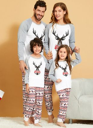 Family Look Animal Christmas Long Sleeve Family Outfits (122030177)