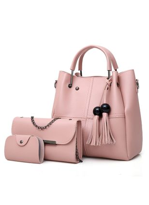 Bag Sets Shoulder Fashion Tassel Double Handle Bags (1531720)