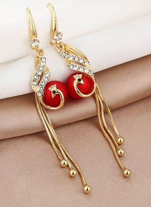 Casual Animal Gemstone Dangle Earrings (147243690)