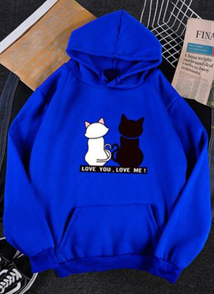 Animal Cute Hooded Pockets Sweatshirts (107562679)