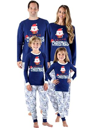 Family Look Alphabet Christmas Long Sleeve Family Outfits (122030182)