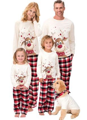 Family Look Animal Christmas Long Sleeve Family Outfits (128229660)