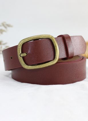 Casual Metal Color Block Belts (4048123)