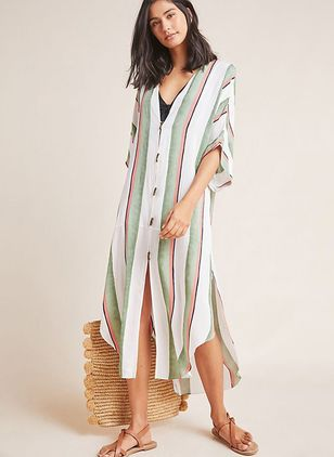Stripe Cover-Ups Swimwear