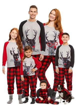 Family Look Animal Casual Long Sleeve Family Outfits (146679936)