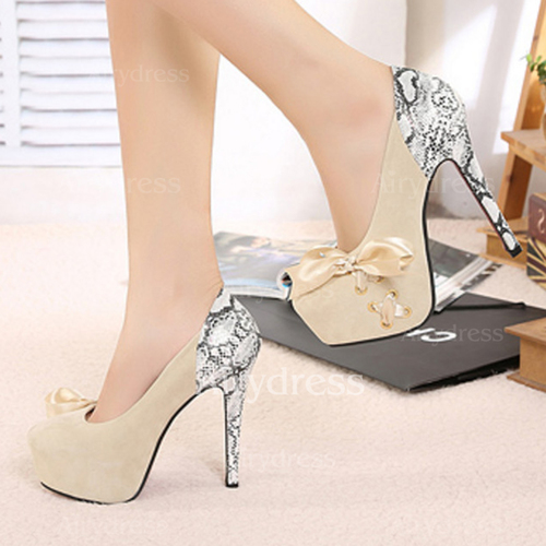 faf5327cd75b Ribbon Tie Lace-up Split Joint Heels Stiletto Heel Shoes - Airydress