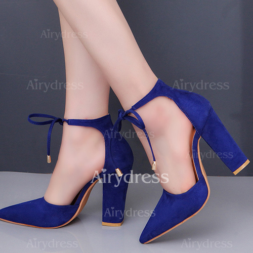 e9c95175acf8 Ribbon Tie Pointed Toe Chunky Heel Shoes (1191974). Share this deal