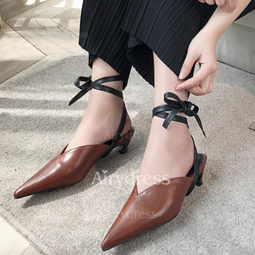 8db6c9ed806a Ribbon Tie Pointed Toe Kitten Heel Shoes (1237472). Share this deal