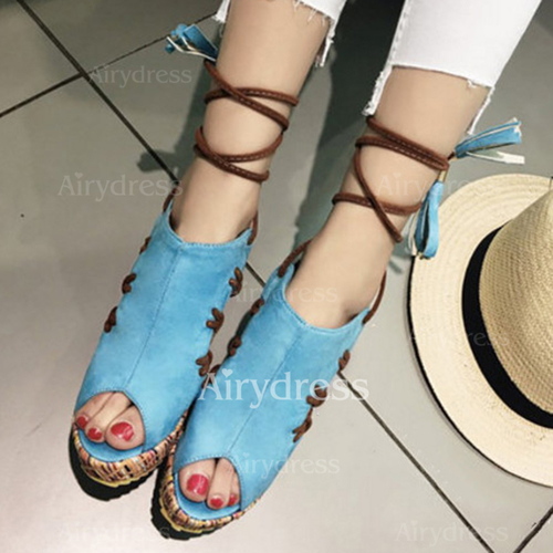 4e0fd4bff022 Ribbon Tie Wedge Heel Shoes - Airydress