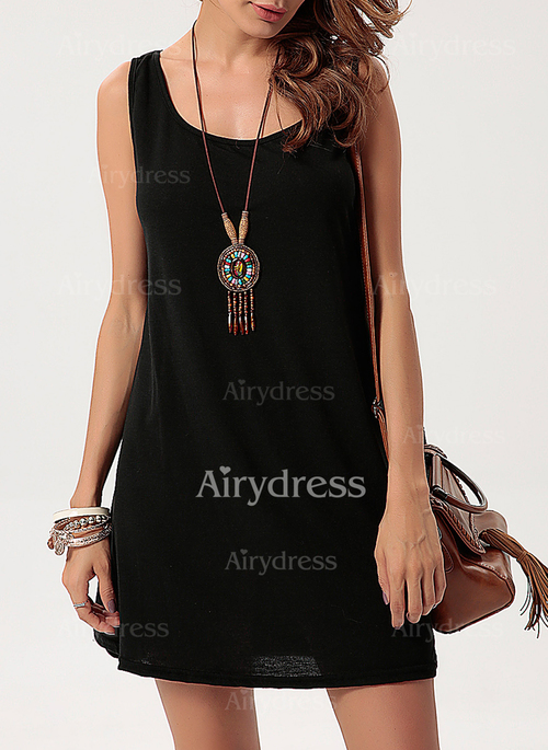 Solid Tank Sleeveless Shift Dress
